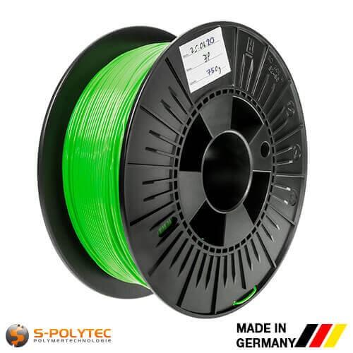 0,75kg hoogwaardige PLA filament lichtgroen (soortgelijk RAL6018, Geelgroen) voor 3D printer - Made in Germany