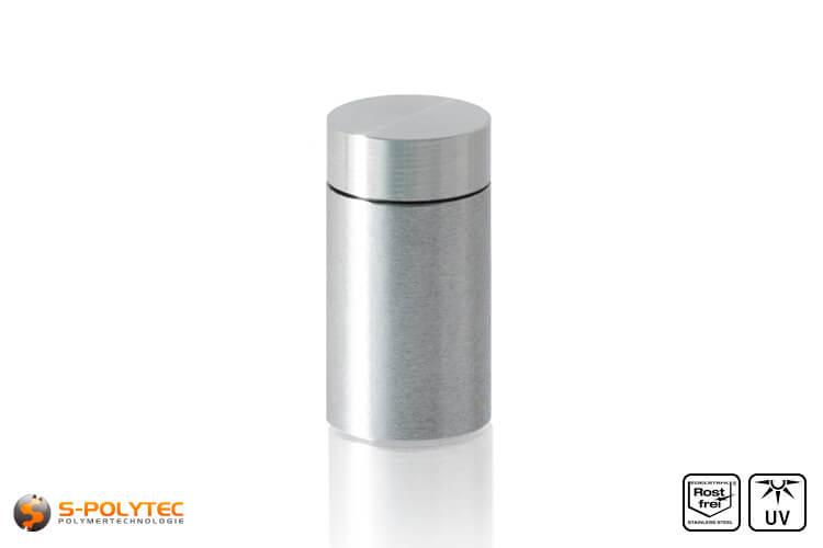 Afstandhouder 10x15mm voor wandmontage van roestvrij staal