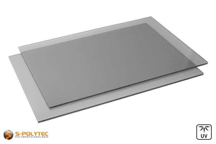 Polycarbonaat platen grijs getint op maat vanaf 4mm - 6mm dikte