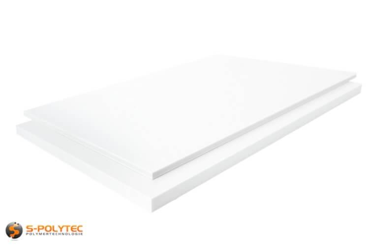 PTFE wit als standard format plaat 600mm x 600mm vanaf 5mm - 60mm dikte