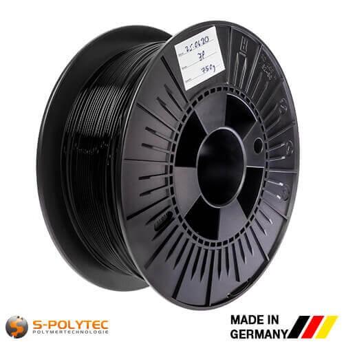 0,75kg hoogwaardige PLA filament zwart voor 3D printer - Made in Germany