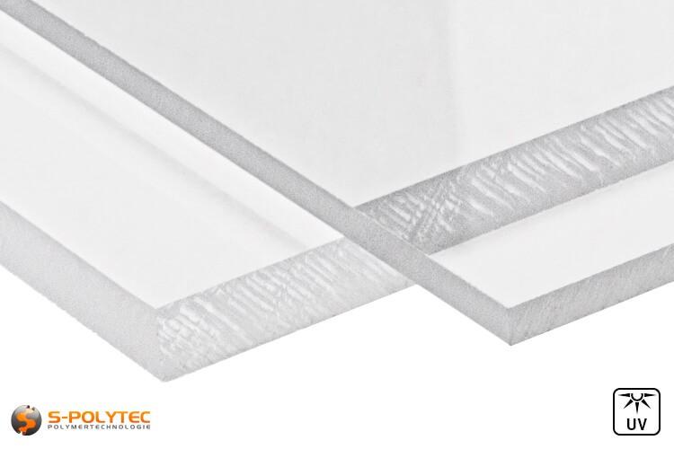 Acrylglas platen (PMMA) transparant in diktes vanaf 2mm - 10mm op maat - detail