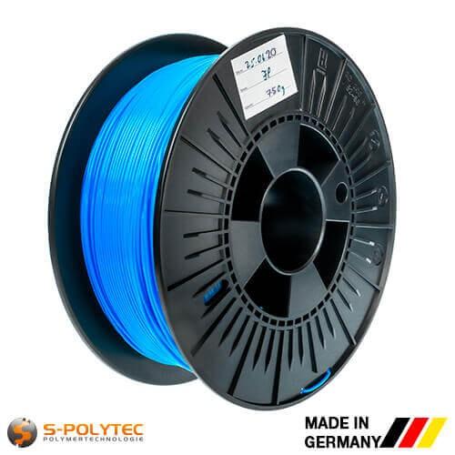 0,75kg hoogwaardige PLA filament blauw (soortgelijk RAL5005, Signaalblauw) voor 3D printer - Made in Germany