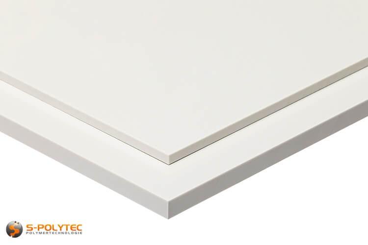 ABS platen in wit in diktes vanaf 1mm tot 10mm als standaard formaat platen 2,0 x 1,0 meter - detail