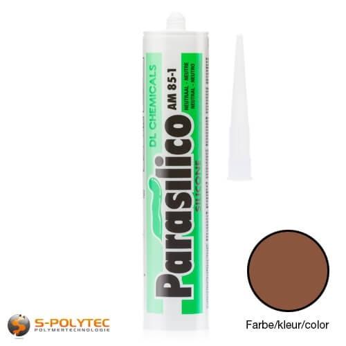 Siliconenkit Parasilico AM-85-1 lichtbruin in RAL8003 (leembruin)