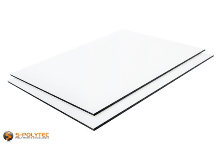Alu sandwich panelen 3mm (Alu-Dibond) in wit op maat kopen