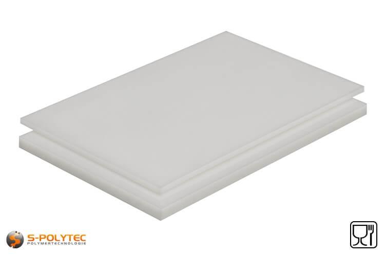 Polypropyleen platen (PP-H) als standaard formaat platen 2,0 x 1,0 meter in diktes vanaf 1mm tot 40mm