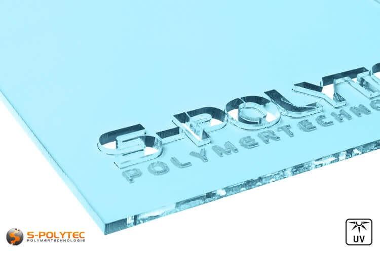 Acrylglas lichtblauw doorzichtig in lasersnede