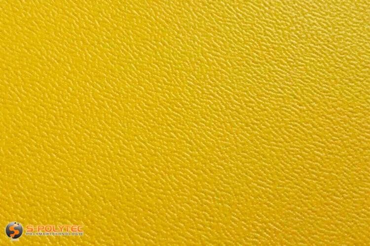 Polyethyleen (PE) platen geel (soortgelijke RAL 1004) met en nerv 19mm  op maat - detail