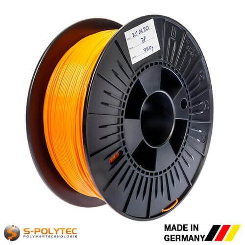 0,75kg hoogwaardige PLA filament oranje (vergelijkbaar met RAL2005, briljantoranje) voor 3D printer - Made in Germany