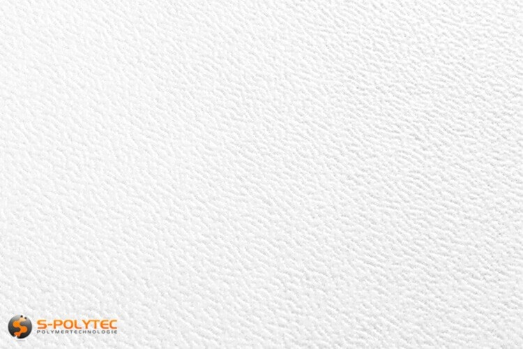 Polyethyleen (PE) platen wit (soortgelijke RAL 9016) met en nerv 19mm  op maat - detail