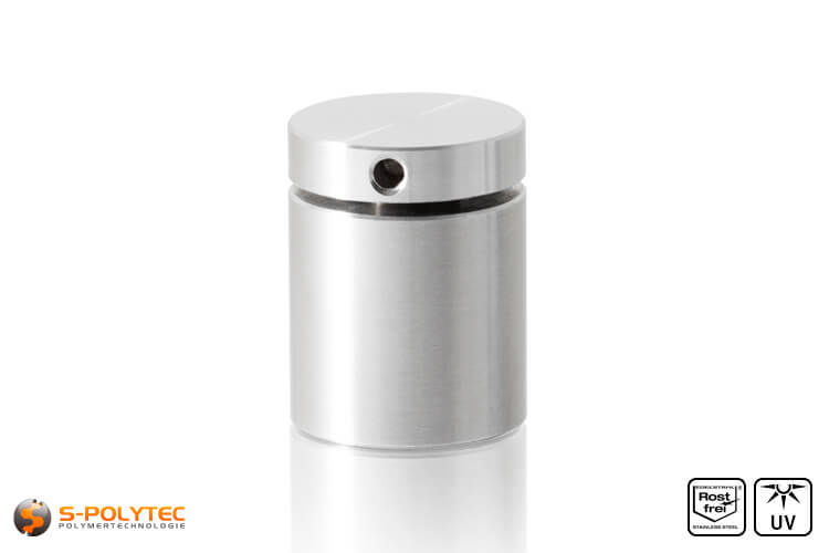 Afstandhouder 25x25mm voor wandmontage van roestvrij staal
