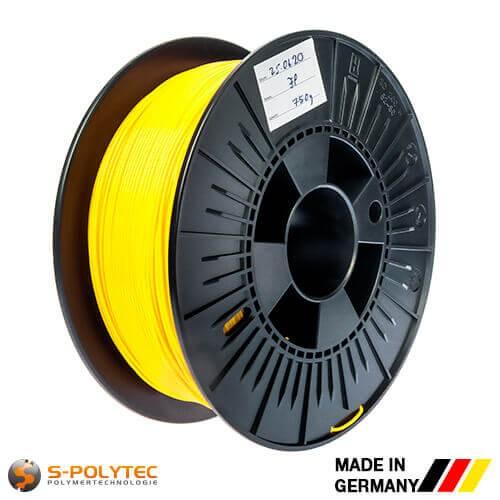 0,75kg hoogwaardige PLA filament geel (vergelijkbaar met RAL1023, verkeersgeel) voor 3D printer - Made in Germany