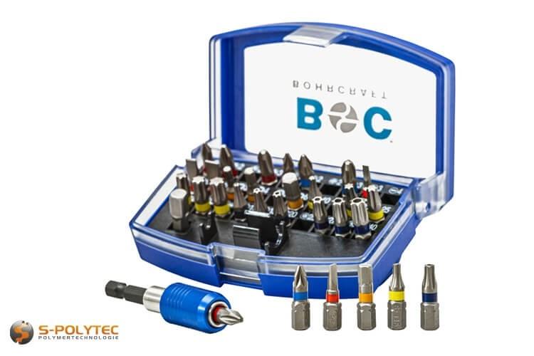 Schroef-bits met gekleurde ring voor alle gangbare schroeven in professionele vakmanschap-kwaliteit