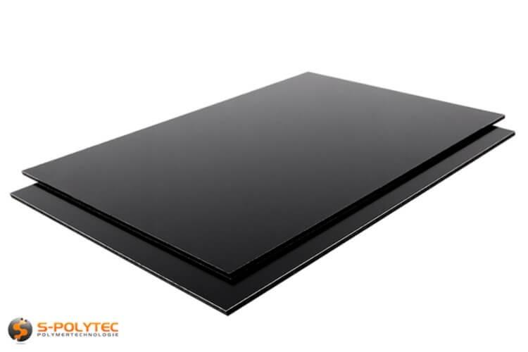 Alu sandwich panelen 3mm (Alu-Dibond) in zwart op maat kopen