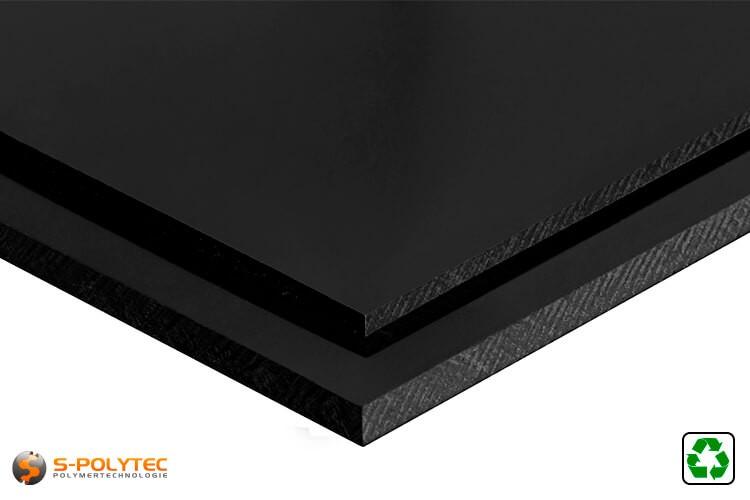 ABS platen zwart recyclaat op maat - detail