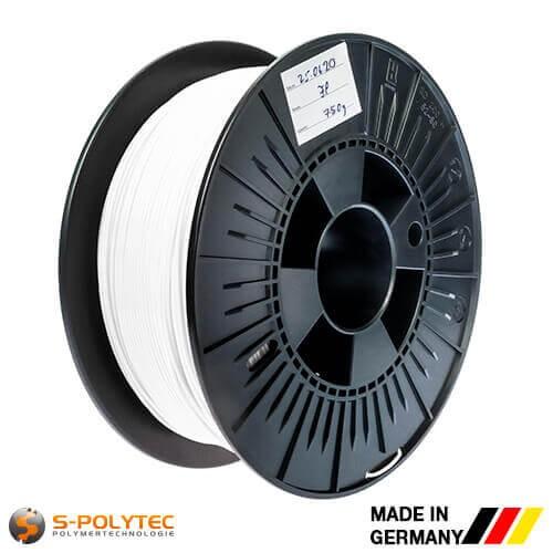 0,75kg hoogwaardige PLA filament wit voor 3D printer - Made in Germany