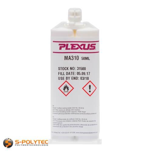 Twee componenten acrylaat lijm Plexus MA310 voor de structurele verlijming van thermoplasten
