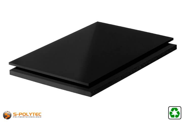 ABS platen zwart recyclaat op maat
