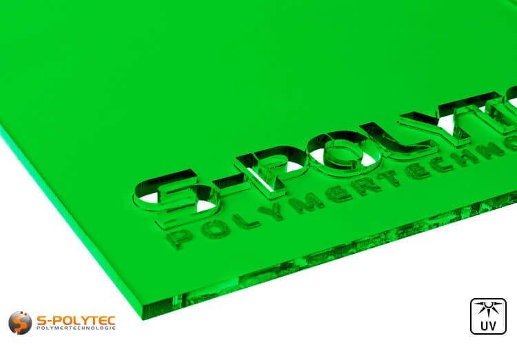 Acrylglas groen doorzichtig in lasersnede