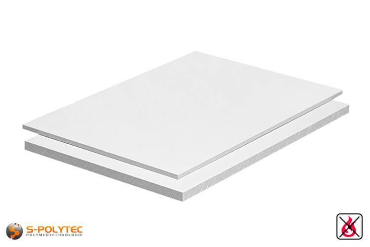 PVC platen wit uit hard-PVC (PVCU) in diktes vanaf 1mm tot 20mm als standaardplaat met 2x1m