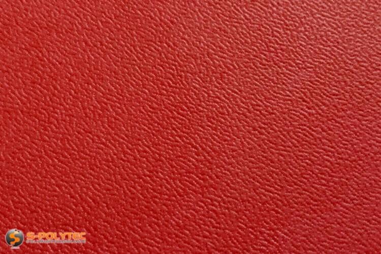 Polyethyleen (PE) platen rood (soortgelijke RAL 3001) met en nerv 19mm  op maat - detail