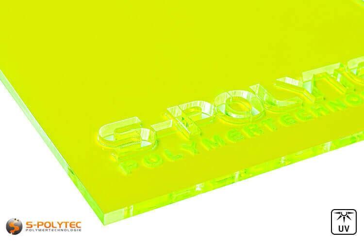 Acrylglas geel fluorescerend (Lasersnede)