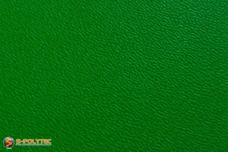 Polyethyleen (PE) platen groen (soortgelijke RAL 6005) met en nerv 19mm  op maat - detail