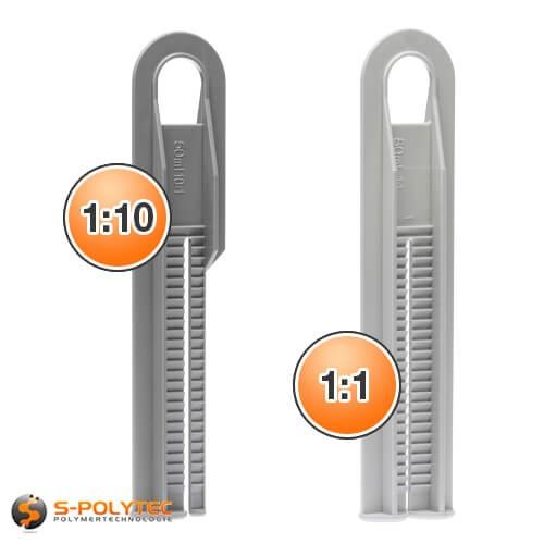 Schieber Lijmpistol voor twee-componentenlijm met een mengverhouding van 1:10 of 1:1