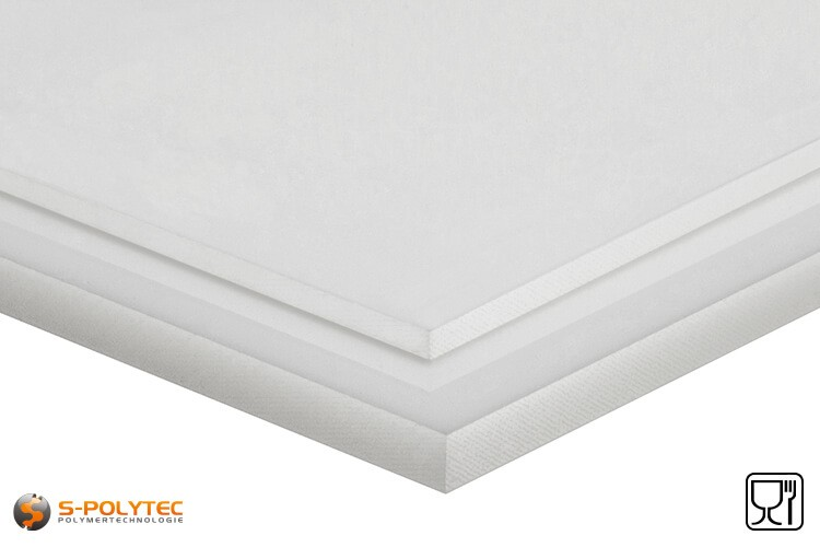 Polyethyleen platen (PE-HD) naturel in diktes vanaf 1mm tot 100mm als standaard formaat platen sheets 2,0 x 1,0 meter - detail