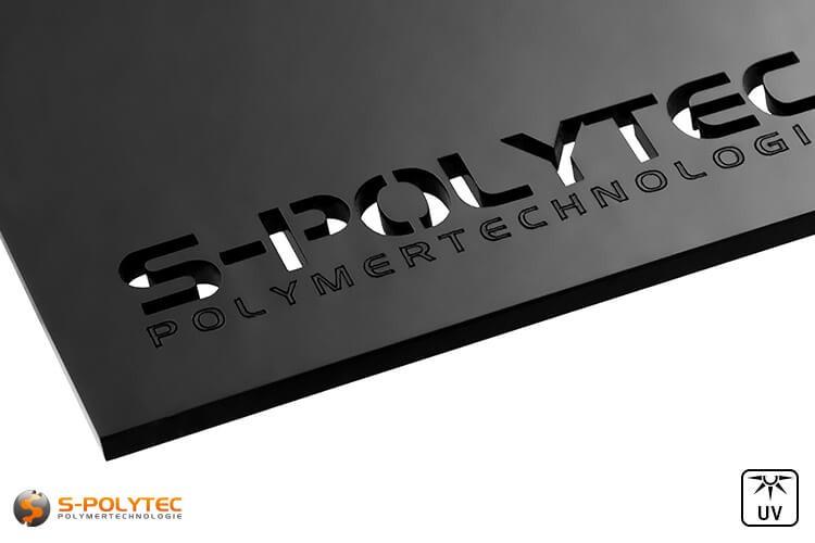 Configureer uw laserdelen van acrylglas in zwart gemakkelijk online in onze configurator