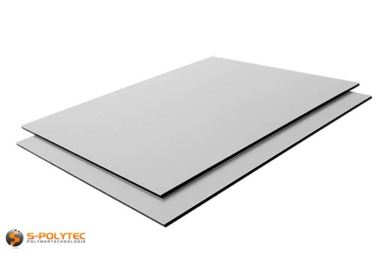 Alu sandwich panelen 3mm (Alu-Dibond) in zilver op maat kopen