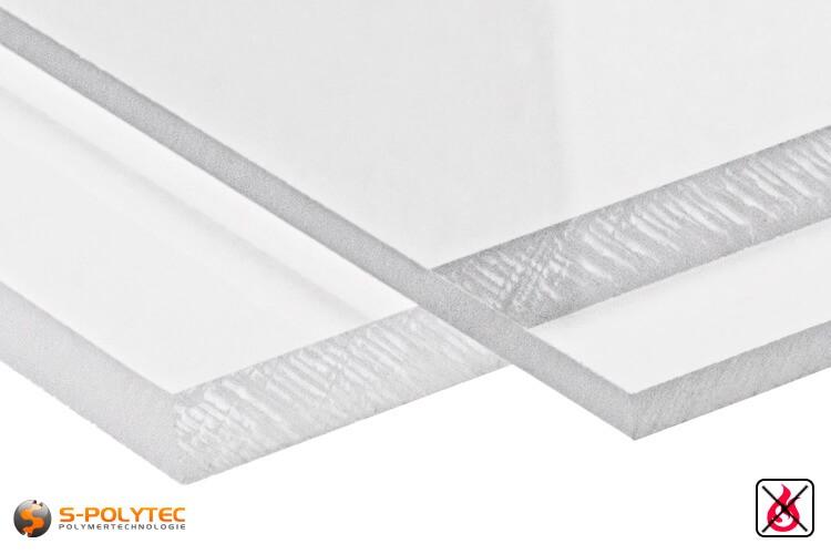 PVC platen transparant uit herd PVC (PVCU) in diktes von 1mm - 15mm - detail