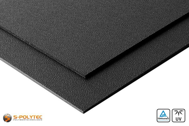 Zwart ASA/ABS als standard format plaat in diktes vanaf 2mm tot 4mm - detail