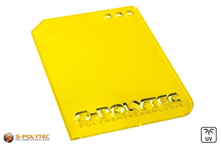 Acrylglas geel doorzichtig in lasersnede