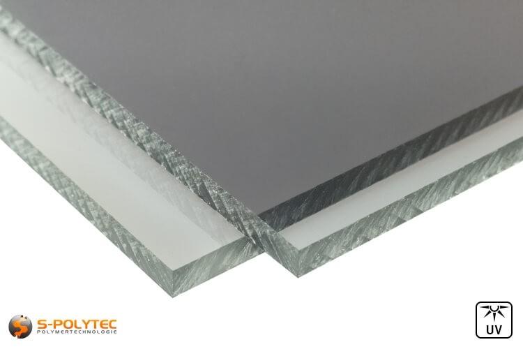 PC grijs platen op maat in diktes vanaf 4mm tot 6mm - detail