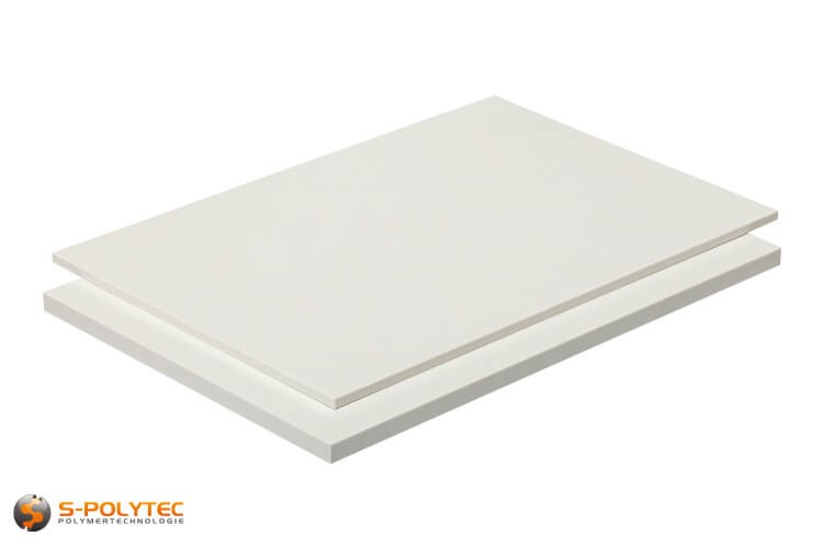 ABS platen in wit (soortgelijk RAL9016, verkeerswit) met glad oppervlak in diktes vanaf 1mm tot 10mm als standaard formaat platen 2,0 x 1,0 meter