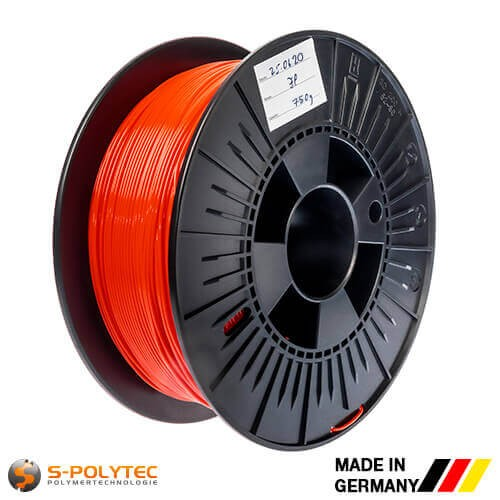 0,75kg hoogwaardige PLA filament rood (vergelijkbaar met RAL3028, zuiver rood) voor 3D printer - Made in Germany