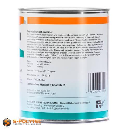 Kunststoflijm Technicoll 8008 speciaal voor vastplakken van kunststoffen met metalen