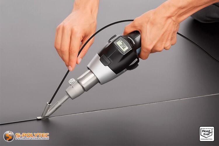Voorbeeld: Lassen met het STEINEL snellasschoen 5mm