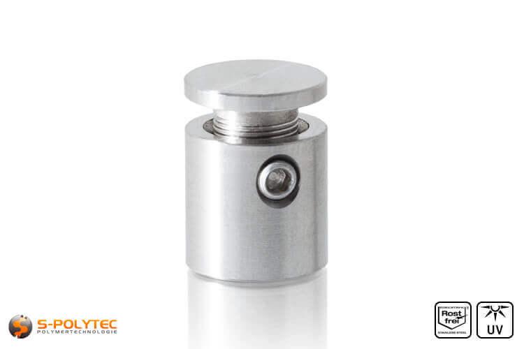 Afstandhouder 13x13mm voor wandmontage van roestvrij staal