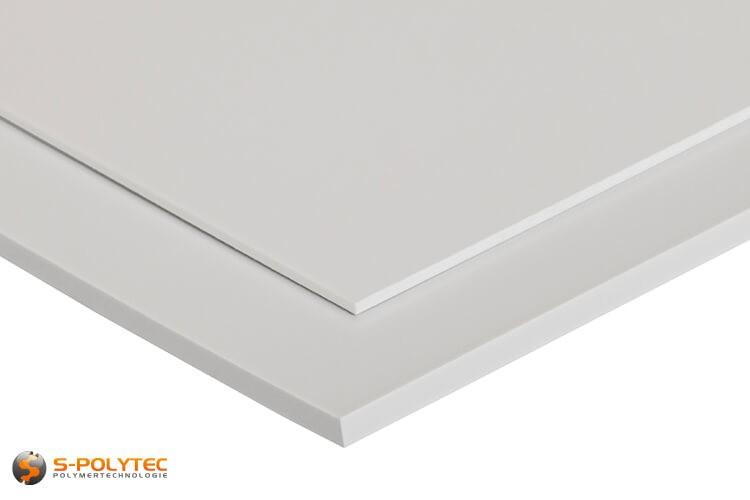 Wit HIPS als standard format plaat in diktes vanaf 1mm tot 5mm - detail