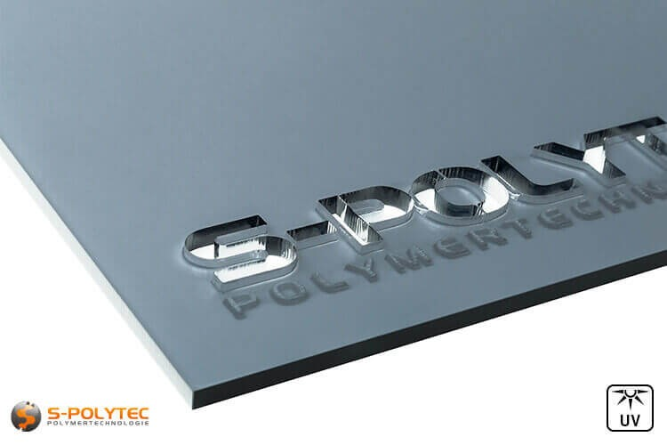 Acrylglas grijs getint in lasersnede