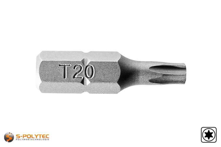 TORX Bit in het maat T-20 voor het vastschroeven van onze HPL-gevelschroeven